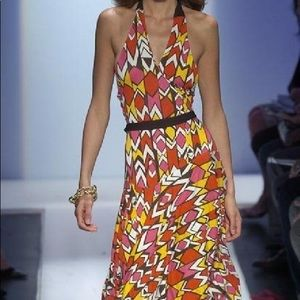 DVF halter wrap dress